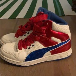Puma red white and blue sneaker